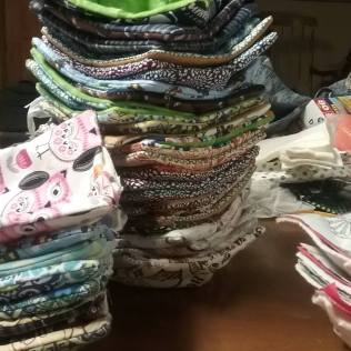 Stacks of Microwave Bowl Cozies!